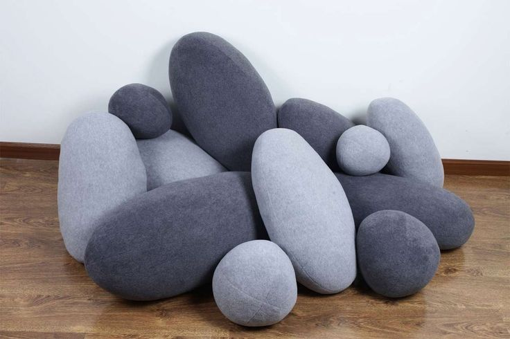 Awesome Pebble Pillows Design ~ http://www.lookmyhomes.com/unique-view-and-functional-pebble-pillows/