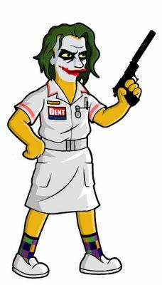 Nurse Joker, Batman Nolanverse Simpson-ized