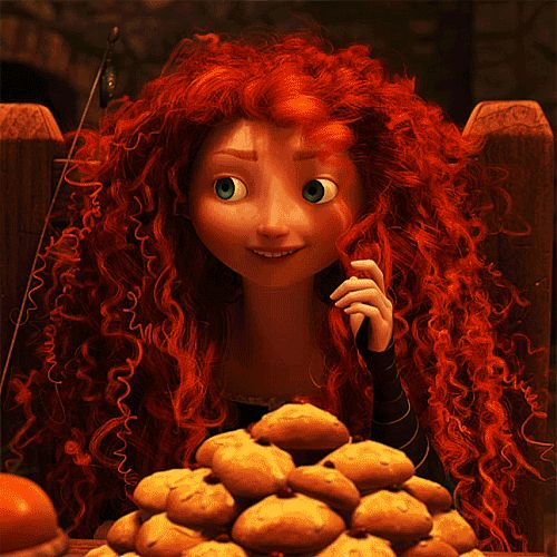 """Princess Merida's famously fiery-red hair is made up of more than 1,500 individually sculpted, curly red strands that generate about 111,700 total hairs. """"We've never seen anything like Merida's curly hair,"""" said Claudia Chung, the simulation supervisor."""