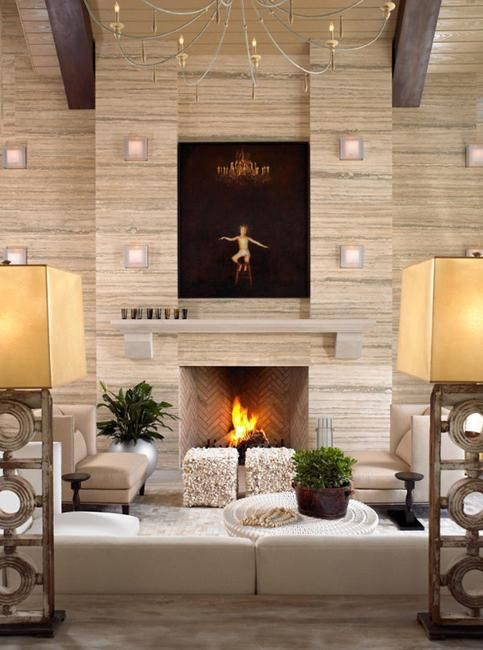 modern wall design and lights