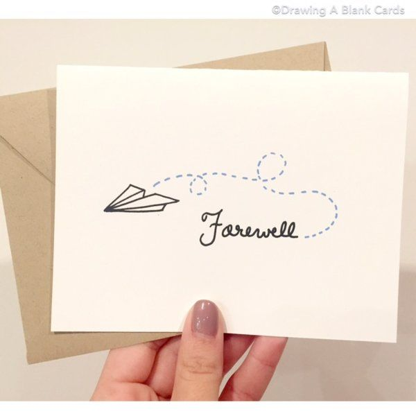 Paper Airplane Goodbye Card | Drawing a Blank Cards