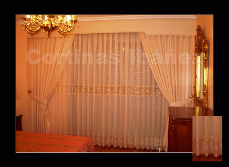 92 best cortinas images on pinterest net curtains - Abrazaderas para cortinas ...