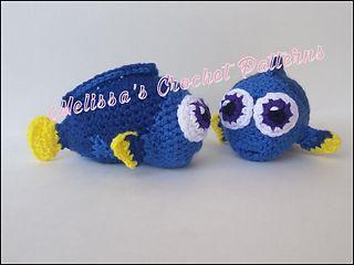 Baby Dory - free pattern by Melissa's Crochet Patterns.