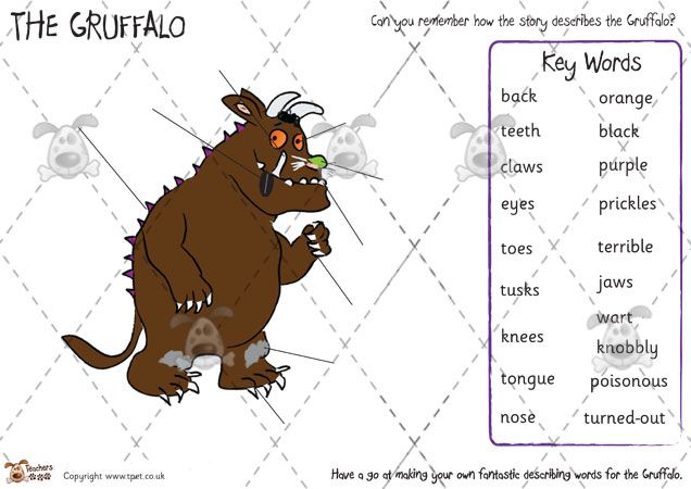 Teacher's Pet - The Gruffalo Story Sequencing (colour) - Premium Printable Game / Activity - EYFS, KS1, KS2, grufalo, julia, donaldson