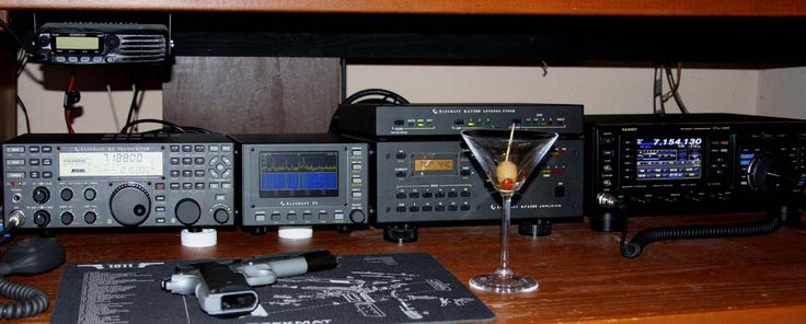 Steve's Shack - WM6P features his K3 Line alonside his FTdx-1200. Steve's shack features a newly purchased Elecraft K3 & Pan Scope