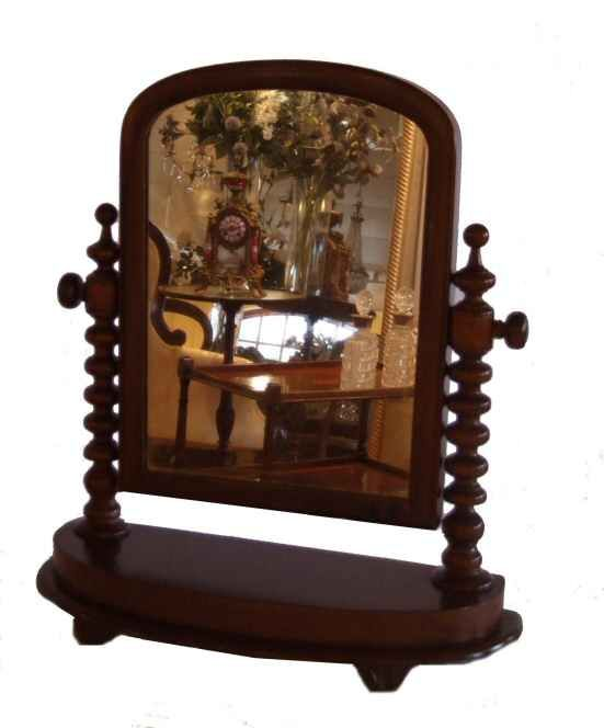 Victorian mahogany dressing table mirror from harbour Antiques, Bideford, Devon specialising in antique gilt mirrors, antique dressing table mirrors, antique wall mirrors