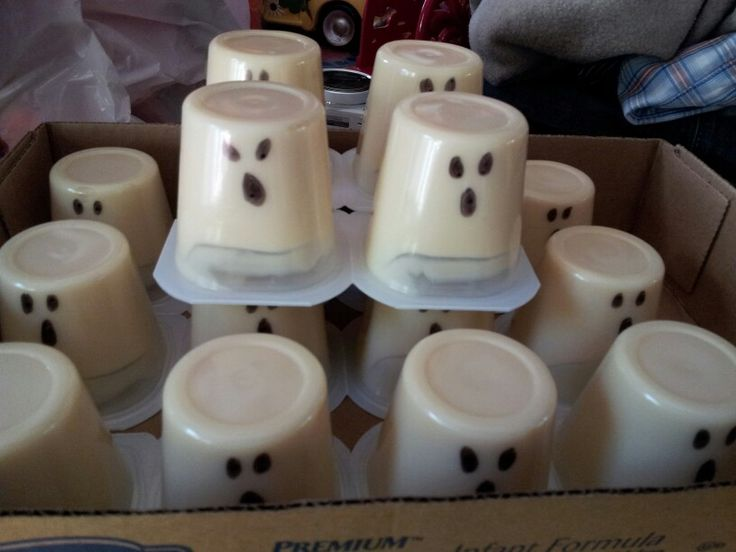 Pudding Cup Ghosts A Yummy Amp Easy Classroom Snack