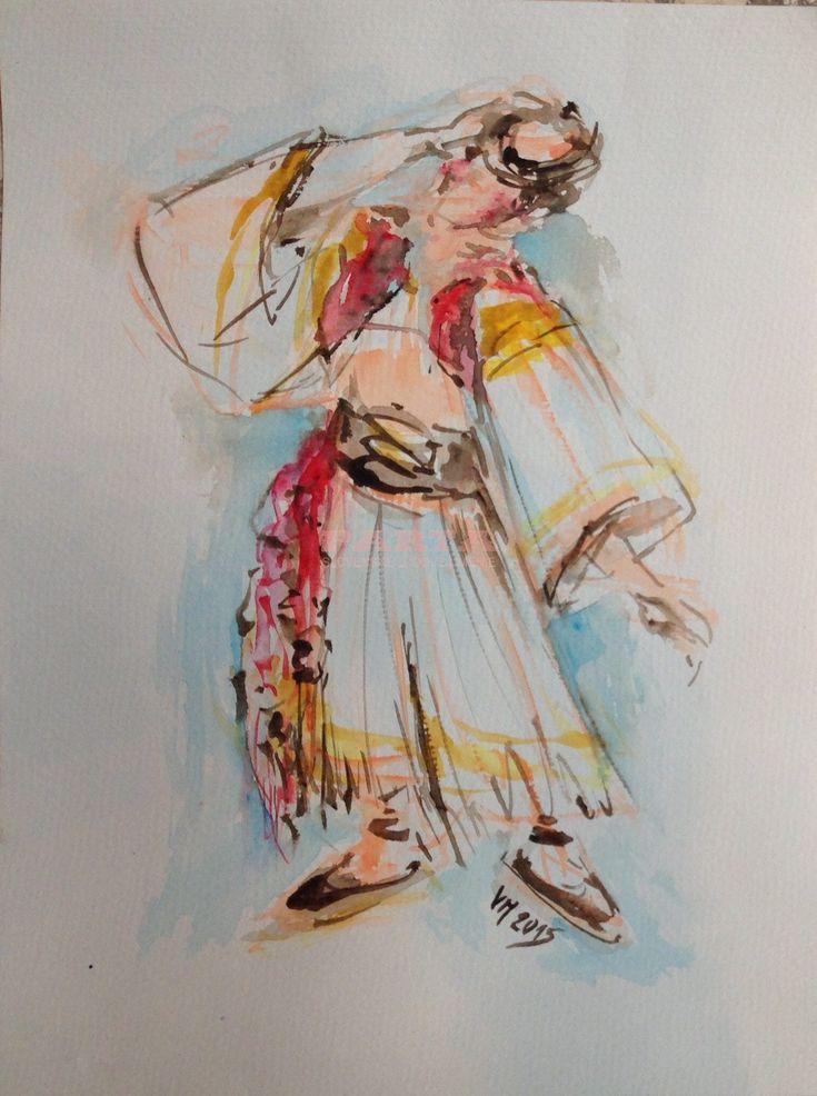 Akvarel – PARTA – Slovenské ľudové umenie