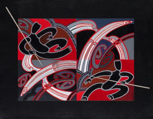 The Hunters by Sandy Adsett, Māori artist (KX101009)