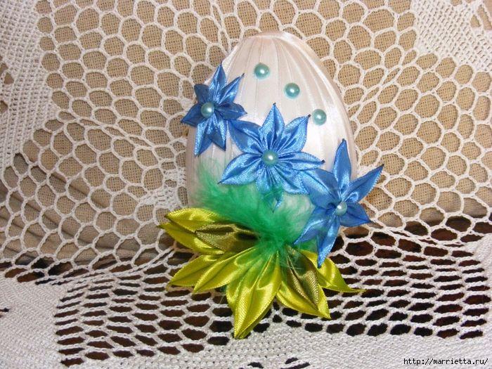 Шелковые пасхальные яйца с цветочками канзаши (27) (700x525, 411Kb)