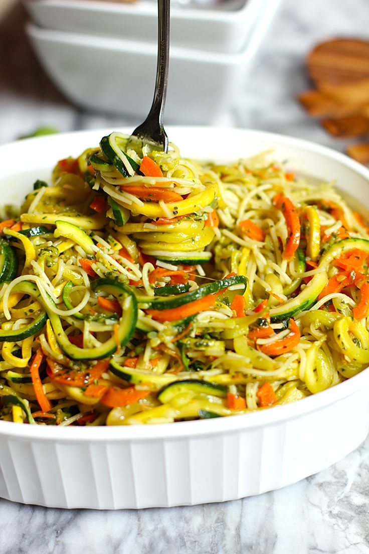 Vegetable pesto pasta recipes - see more recipes here