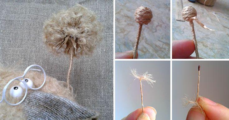 Предлагаю сделать джутовый одуванчик, который можно использовать и как самостоятельный элемент декора, и как аксессуар для игрушек. Итак, приступим. Нам понадобится: шпагат (я использую именно такой, в бобинах, шлифованный); клей «Титан»; пенопластовый шарик диаметром 1 см (можно скрутить из фольги, слепить из теста и т. д.); проволока (можно любую, какая у вас есть, у меня — в бум…