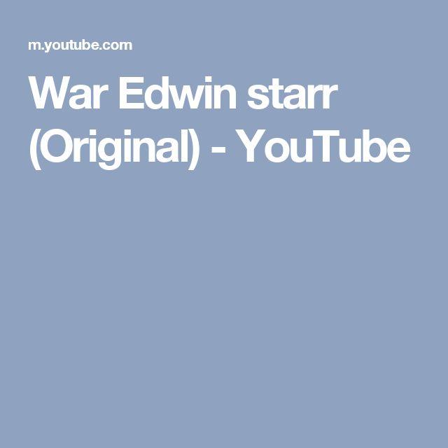 War Edwin starr (Original) - YouTube