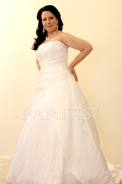 Plus Size Wedding Dress size 18 - 30 White or Ivory price USD $197 - PARISISI ONLINE DISCOUNT SHOP