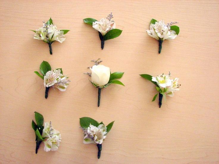 Más diseños sencillos de #Boutoniers www.floremia.com.mx