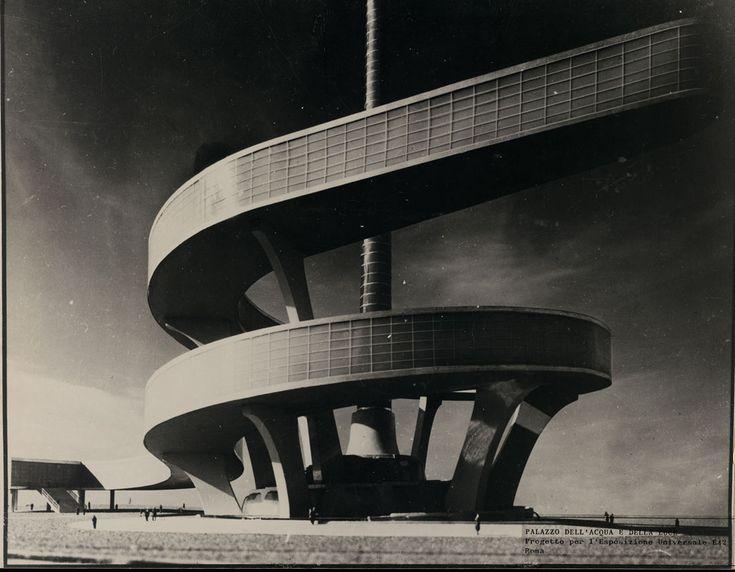 Palazzo dell'acqua e della luce. Progetto per l'Exposizione Universale Roma by Pier Luigi Nervi