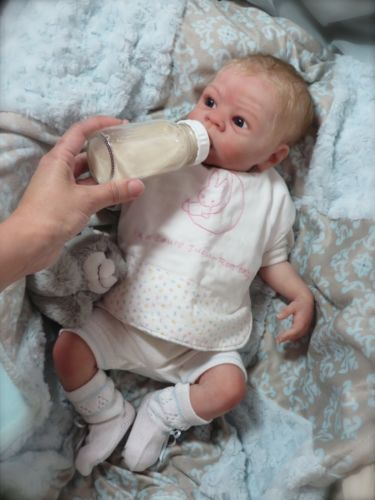 Alejandro Awake Full Body Solid Silicone Reborn Baby by Laura Tuzio-Ross | eBay