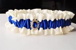 RILEY Keepsake Wedding Garter, Something Blue Wedding Garter by Knotted and Bent, Handmade Wedding Garter    https://knottedandbent.com/collections/something-blue-wedding-garter-collection
