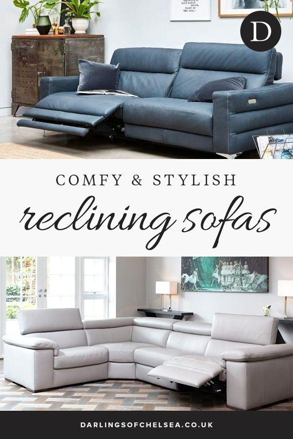 Leather Reclining Sofa Comfy Stylish Darlings Of Chelsea Reclining Sofa Leather Reclining Sofa Sofa Design