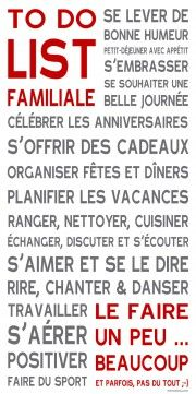 To Do List ® Blanc familiale
