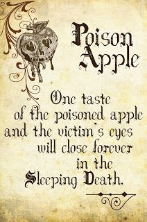 printable spell book pages- this one for our Poison Apple martinis