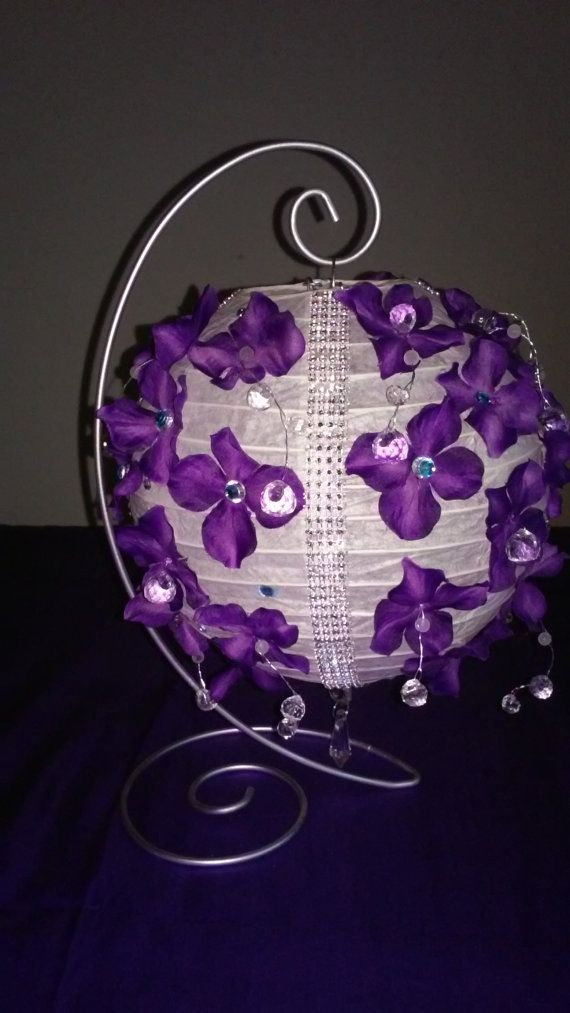 Paper Lantern Centerpiece with Stand