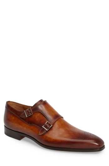 Magnanni Donaldo Double Buckle Monk Shoe (Men)