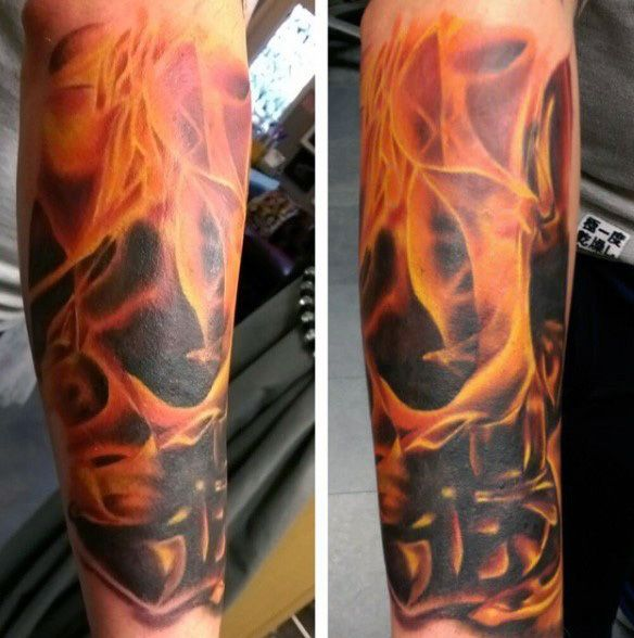 Flame Tattoos Designs Ideas And Meaning: Top 60 Best Flame Tattoos For Men Inferno Of Designs