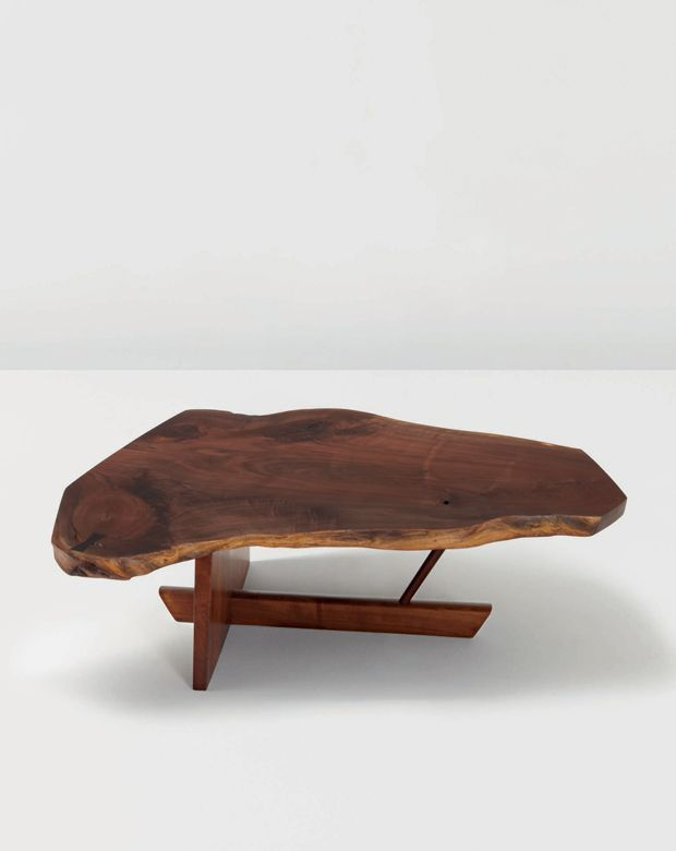American black walnut 'Minguren II' coffee table by George Nakashima, 1983.
