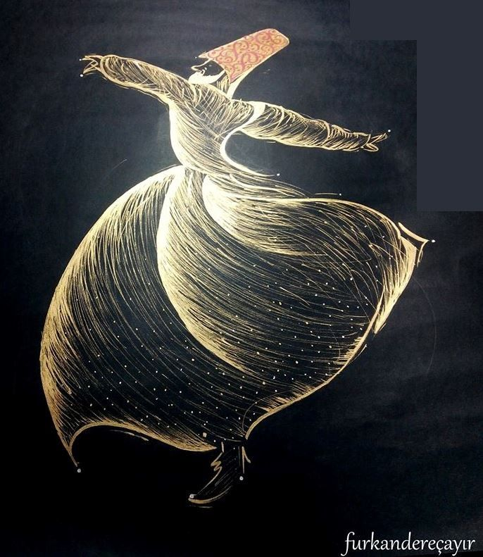 """Dance illuminates and awakens new channels of energy within us"" www.danzasacra.com Drawing by Furkan Dereçayırı"