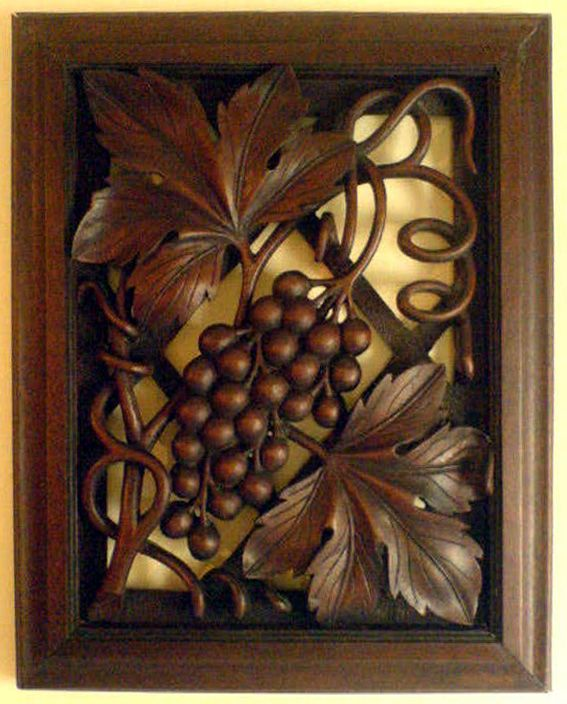 Carving wood grapes buscar con google fleurs et