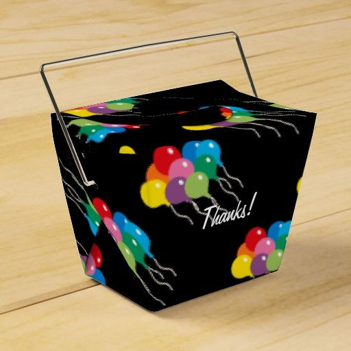 Rainbow Candy Party Personalized Party Favor Boxes