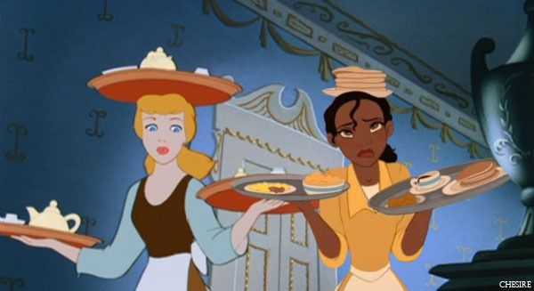 Disney Crossover Family | disney crossover Disney Crossovers Tiana and Cindy working together