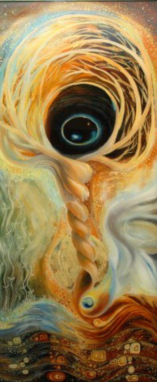 Sárból lettünk, Otthon, lakberendezés, Képzőművészet , Festmény, Olajfestmény, A kép üvegre festett olajfestményeim egyike, melyek spriritualitásukkal emelkednek ki. Különle..., Meska