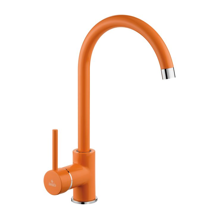 Milin - orange kitchen mixer, Deante.
