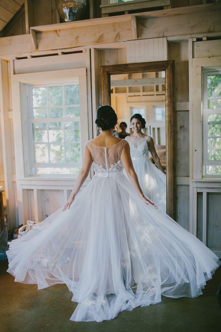 Watters Jacinda Dress Real Bride (Marianmade Farm Maine Barn Wedding) - Weddingbee