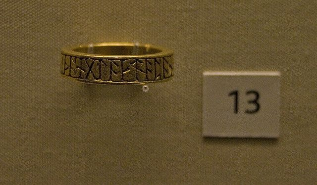 Runic Viking or Anglo-Saxon Ring, British Museum (I am in love with this and would totally wear a reproduction)