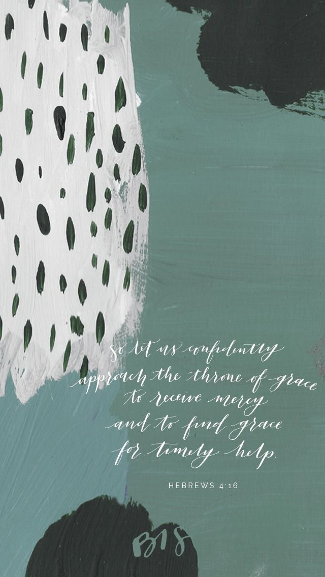 29th Week of Ordinary Time // Hebrews 4:16 // So let us confidently approach the throne of grace to receive mercy and to find grace for timely help // Blessed is She