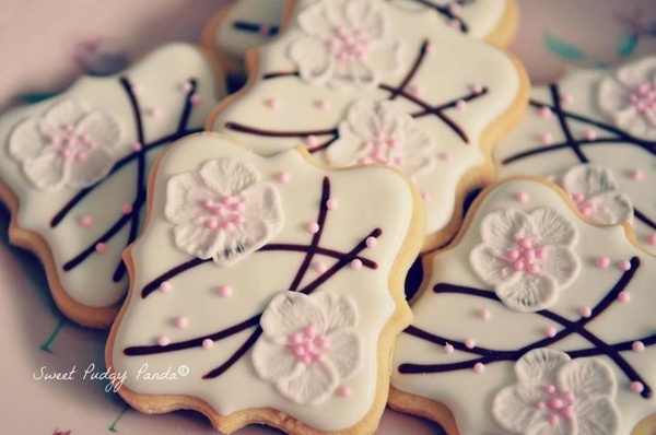 Cherry blossom beauties!!!!!! by @justaddmilk: Blossom Cookies, Sweet, Decorated Cookies, Cookie Ideas, Cookie Decorating, Blossom Beauties, Cherries, Photo, Cherry Blossoms