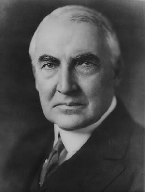 Warren G Harding, Twenty-Ninth President of the United States - Credit: Library of Congress, Prints and Photographs Division, LC-USZ62-13029 DLC