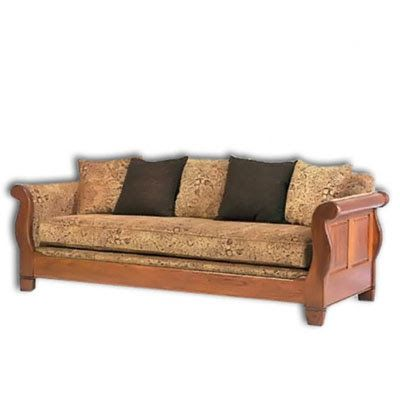 Wooden Sofa Design  Rustic With Comfy Fabric Part 61