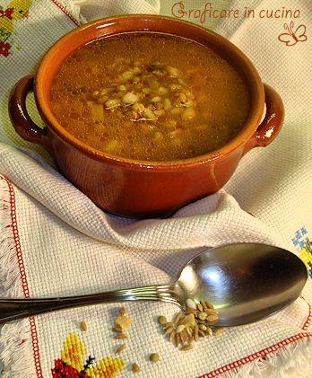 Zuppa di farro e orzo http://blog.giallozafferano.it/graficareincucina/zuppa-di-farro-e-orzo/