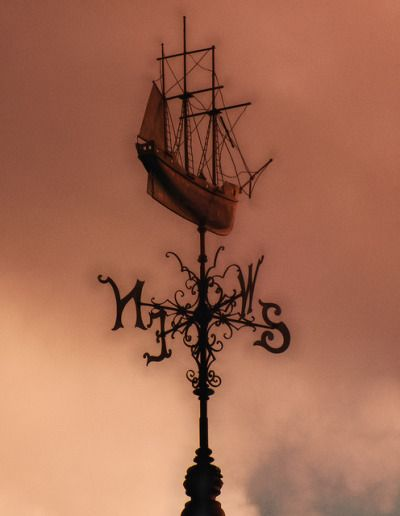 "rain-storms: "" Sailing Ship Weather Vane (Bristol Harbourside) by Andwar on…"