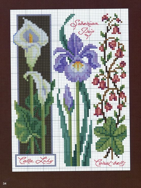 308 best cross stitch flowers 5 images on pinterest