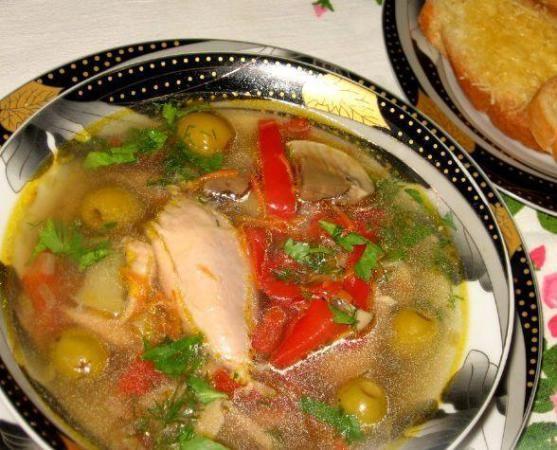 Chicken mess of pottage in Montenegrin (Куриная похлёбка по-черногорски)