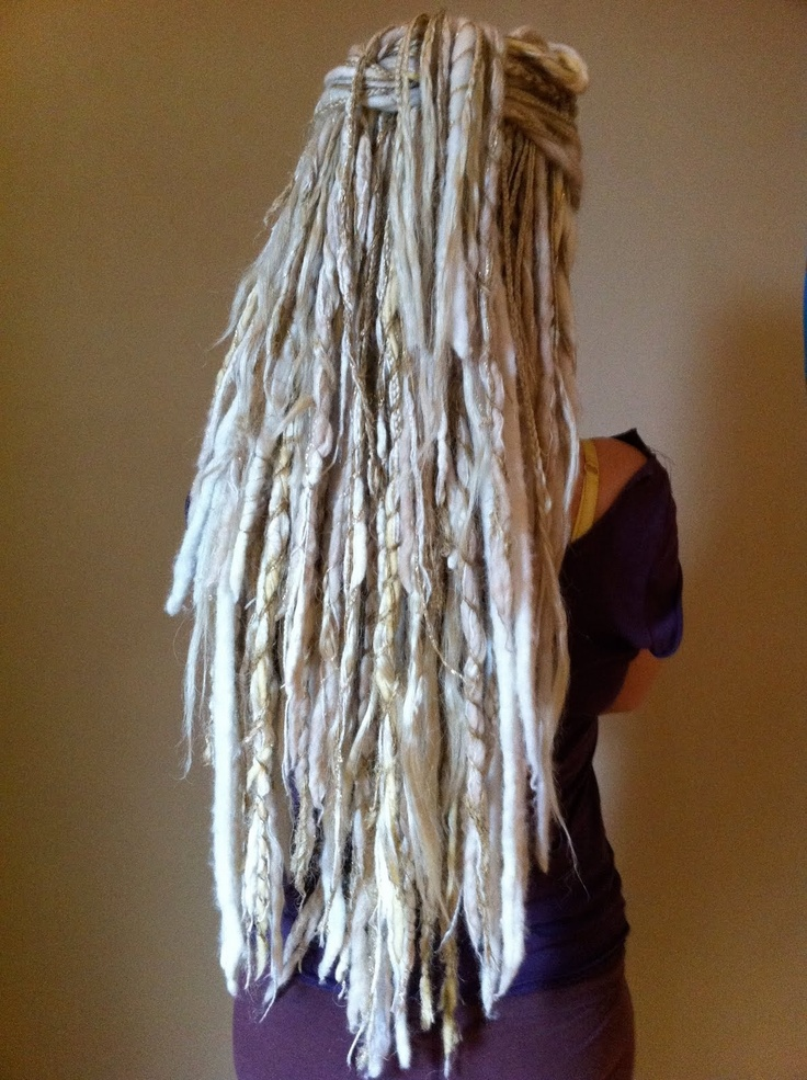 White dreads  Really do like white dreads!