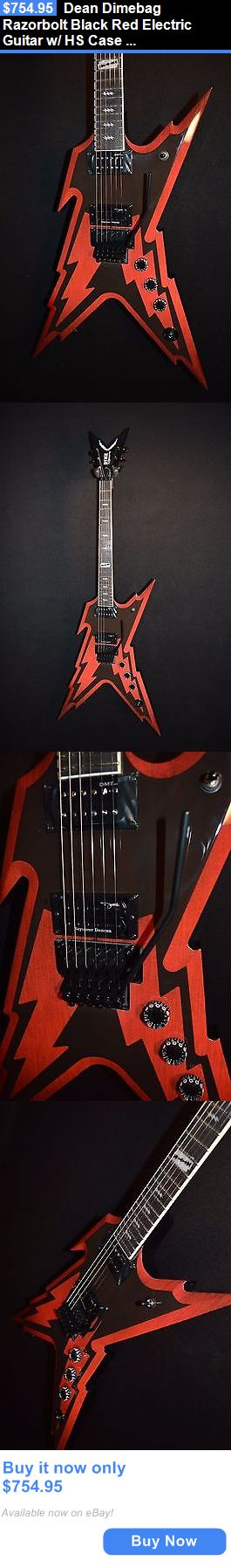 musical instruments: Dean Dimebag Razorbolt Black Red Electric Guitar W/ Hs Case - Free Shipping! BUY IT NOW ONLY: $754.95