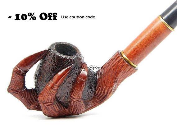 Pipa de fumar tabaco  garra del águila  mano de pera madera