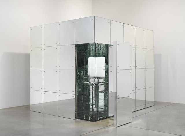 "Lucas Samaras - Mirrored Room Mirrors on wooden frame, 96"" x 96"" x 10' (243.8 cm x 243.8 cm x 304.8 cm), 1966, © Lucas Samaras, courtesy Pace Gallery / Photo by: G. R. Christmas"