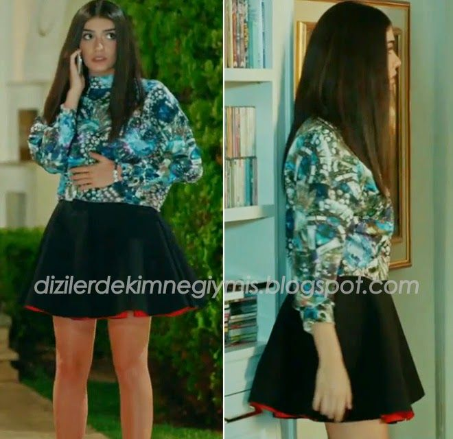 Medcezir - Eylül (Hazar Ergüçlü), H&M Top and Skirt